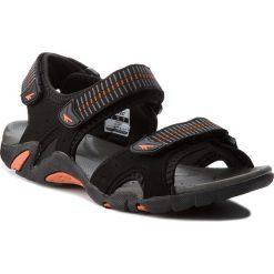 Sandały HI-TEC - Monilo AVSSS18-HT-01-Q2 Black/Orange/Mid Grey. Czarne sandały męskie skórzane Hi-tec. W wyprzedaży za 119,00 zł.