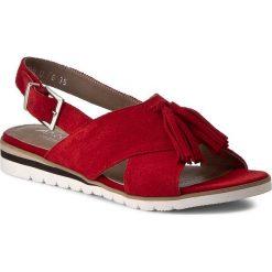 Rzymianki damskie: Sandały ANN MEX – 8007 14W Czerwony