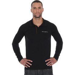 Brubeck Koszulka męska polo Prestige z długim rękawem czarna r. XL (LS10620). Czarne koszulki polo marki Brubeck, m, z długim rękawem. Za 215,89 zł.