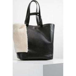 Shopper bag damskie: Whistles HAMPSON SHEARLING  Torba na zakupy black
