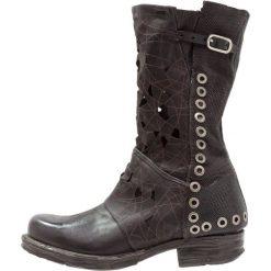A.S.98 Kowbojki i Buty motocyklowe black. Czarne buty zimowe damskie marki A.S.98, z materiału. W wyprzedaży za 811,30 zł.