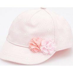 Czapki damskie: Zdobiona czapka z daszkiem – Kremowy