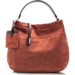 Torebka damska 85-4E-011-55. Czerwone torebki klasyczne damskie Wittchen, w paski, z zamszu, zamszowe. Za 539,00 zł.