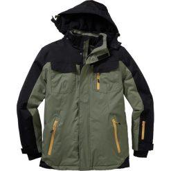 Termoaktywna kurtka zimowa bonprix oliwkowo-czarny. Czarne kurtki męskie bomber bonprix, na zimę, m, z materiału. Za 199,99 zł.