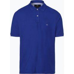Fynch Hatton - Męska koszulka polo, niebieski. Niebieskie koszulki polo Fynch-Hatton, m, z haftami, z bawełny. Za 179,95 zł.