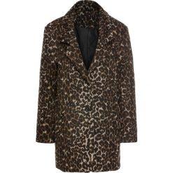 Płaszcze damskie: Krótki płaszcz z materiału w optyce wełny bonprix cętki leoparda