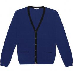 Kardigan kaszmirowy w kolorze niebieskim. Niebieskie kardigany męskie marki Ateliers de la Maille, m, z kaszmiru. W wyprzedaży za 591,95 zł.