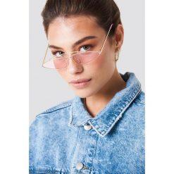 Okulary przeciwsłoneczne damskie: NA-KD Trend Okulary przeciwsłoneczne z mostkiem – Pink