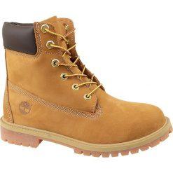 Timberland 6 In Premium WP Boot Jr 12909. Żółte buty trekkingowe damskie Timberland, na zimę. W wyprzedaży za 499,99 zł.