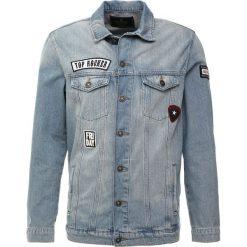 Mavi FRANK Kurtka jeansowa bleached patched. Niebieskie kurtki męskie jeansowe marki Reserved, l. Za 349,00 zł.
