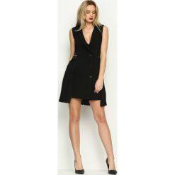 Sukienki hiszpanki: Czarna Sukienka Modern Chic