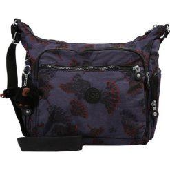 Kipling GABBIE Torba na ramię bold flower. Fioletowe torebki klasyczne damskie Kipling. Za 399,00 zł.