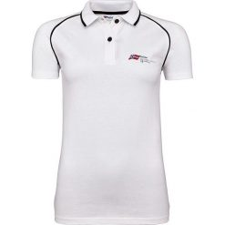 """Bluzki damskie: Koszulka polo """"Oceans"""" w kolorze białym"""