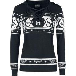 Harry Potter Hogwarts Sweter damski czarny/biały. Szare swetry klasyczne damskie marki Reserved, m, z kapturem. Za 199,90 zł.
