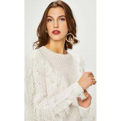 Vila - Sweter Dulin. Szare swetry klasyczne damskie Vila, l, z bawełny, z okrągłym kołnierzem. Za 129,90 zł.
