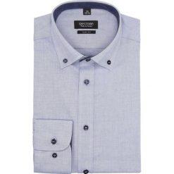 Koszula bexley 2674 długi rękaw slim fit niebieski. Szare koszule męskie slim marki Recman, na lato, l, w kratkę, button down, z krótkim rękawem. Za 139,00 zł.