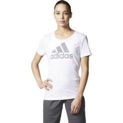 Adidas Koszulka Branding 2IN1 biała r. XS (AY5003). Białe topy sportowe damskie Adidas, xs. Za 88,84 zł.