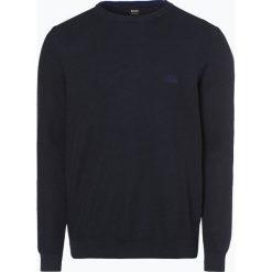 BOSS Athleisurewear - Sweter męski – Rafal, niebieski. Niebieskie swetry klasyczne męskie BOSS Athleisurewear, l, z bawełny. Za 549,95 zł.