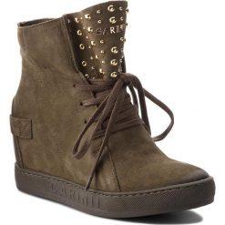 Sneakersy CARINII - B4392  I43-000-000-B88. Zielone sneakersy damskie Carinii, z materiału. W wyprzedaży za 239,00 zł.