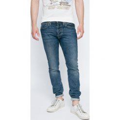 Levi's - Jeansy 501. Brązowe jeansy męskie regular Levi's®, z aplikacjami, z bawełny. W wyprzedaży za 269,90 zł.
