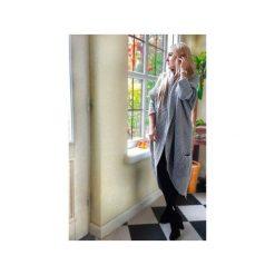 Szary damski sweter asymetryczny, długi damski kardigan, narzutka na zimę. Szare bolerka i narzutki damskie ekoszale. Za 189,00 zł.