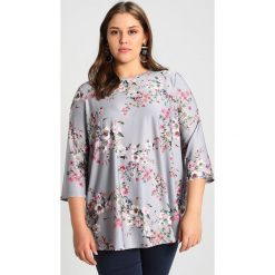 Bluzki asymetryczne: Dorothy Perkins Curve FLORAL PRINTED TEE Bluzka z długim rękawem silver