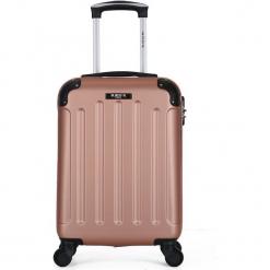 """Walizka """"Madrid"""" w kolorze różowozłotym - 45 x 35 x 20 cm. Żółte walizki marki Hero & BlueStar, z materiału. W wyprzedaży za 115,95 zł."""