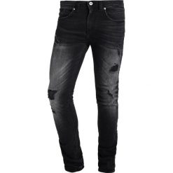 Jeansy męskie regular: Redskins OTIS SHESTER  Jeans Skinny Fit heavy black destroy