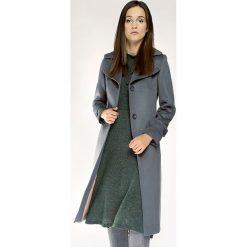 Płaszcz damski 85-9W-109-8. Szare płaszcze damskie marki Wittchen, na jesień, uniwersalny, w paski, z materiału. Za 719,00 zł.