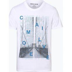 Review - T-shirt męski, czarny. Czarne t-shirty męskie z nadrukiem Review, l. Za 69,95 zł.