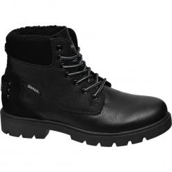 Kozaki męskie Bench czarne. Czarne buty zimowe męskie Bench, z materiału, na sznurówki. Za 199,90 zł.