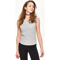 T-shirt Basic - Jasny szar. Czerwone t-shirty damskie marki Sinsay, l, z nadrukiem. Za 9,99 zł.