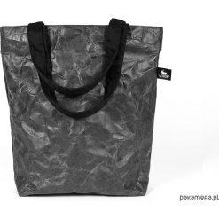 Shopper bag damskie: Torba z czarnego, grubego tyveku. Shopper