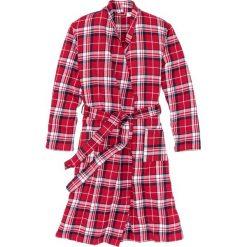 Szlafrok flanelowy bonprix czerwono-niebiesko-biały w kratę. Czerwone szlafroki kimona damskie bonprix. Za 109,99 zł.