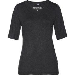 T-shirt z jedwabiem bonprix antracytowy melanż. Szare t-shirty damskie bonprix, melanż, z wiskozy. Za 129,99 zł.