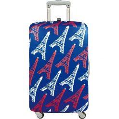 Pokrowiec na walizkę LOQI Travel Eiffel Tower. Niebieskie walizki LOQI, z elastanu. Za 114,00 zł.
