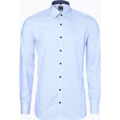 Olymp Level Five - Koszula męska łatwa w prasowaniu, niebieski. Niebieskie koszule męskie na spinki OLYMP Level Five, m, z klasycznym kołnierzykiem. Za 249,95 zł.