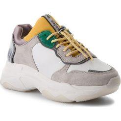 Sneakersy BRONX - 66167-A BX 1525 White/Yellow/Silver 2299. Czarne sneakersy damskie marki Bronx, z materiału. Za 565,00 zł.