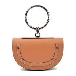 Torebki i plecaki damskie: Skórzana torebka w kolorze jasnobrązowym – (S)15 x (W)23 x (G)5 cm