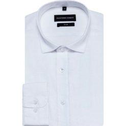 Koszula SIMONE slim KLBS000029. Białe koszule męskie na spinki Giacomo Conti, m, z długim rękawem. Za 199,00 zł.