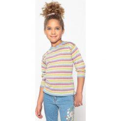 Swetry dziewczęce: Sweter w błyszczące paski 3-12 lat