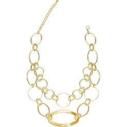 Łańcuszek bonprix złoty kolor. Żółte łańcuszki damskie bonprix, złote. Za 16,99 zł.