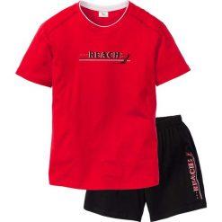 Piżama z krótkimi spodenkami bonprix czerwono-czarny. Białe piżamy męskie marki B'TWIN, m, z elastanu, z krótkim rękawem. Za 34,99 zł.