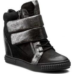 Sneakersy CARINII - B3781/N 360-000-PSK-B88. Czarne sneakersy damskie Carinii, z materiału. W wyprzedaży za 309,00 zł.