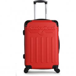 """Walizka """"Harlem A"""" w kolorze czerwonym - 40,5 x 60 x 31 cm. Czerwone walizki American Travel, z materiału. W wyprzedaży za 173,95 zł."""