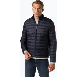 Calvin Klein - Męska kurtka puchowa, niebieski. Pomarańczowe kurtki męskie pikowane marki Calvin Klein, l, z bawełny, z okrągłym kołnierzem. Za 899,95 zł.