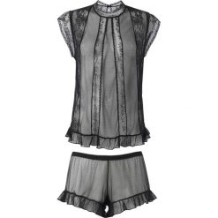 Piżamy damskie: Piżama z krótkimi spodenkami z tiulu i koronki