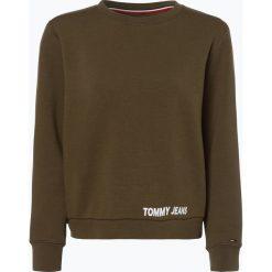 Tommy Jeans - Damska bluza nierozpinana, zielony. Szare bluzy damskie marki Tommy Jeans, l, z dzianiny, z podwyższonym stanem, dopasowane. Za 399,95 zł.