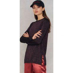 Swetry klasyczne damskie: Samsoe & Samsoe Sweter Maddie – Purple