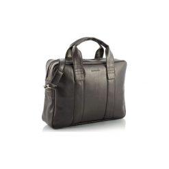 Ciemno brązowa skórzana torba na ramię brodrene b01, Kolor wnętrza: Czarny. Brązowe torby na ramię męskie marki Kazar, ze skóry, przez ramię, małe. Za 169,00 zł.